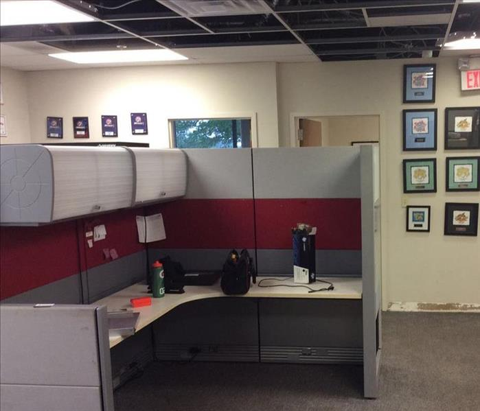 Commercial Water Damage in Office Space After