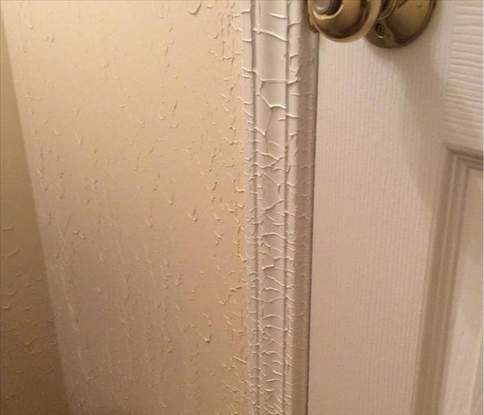 Blistered Trim in Bathroom