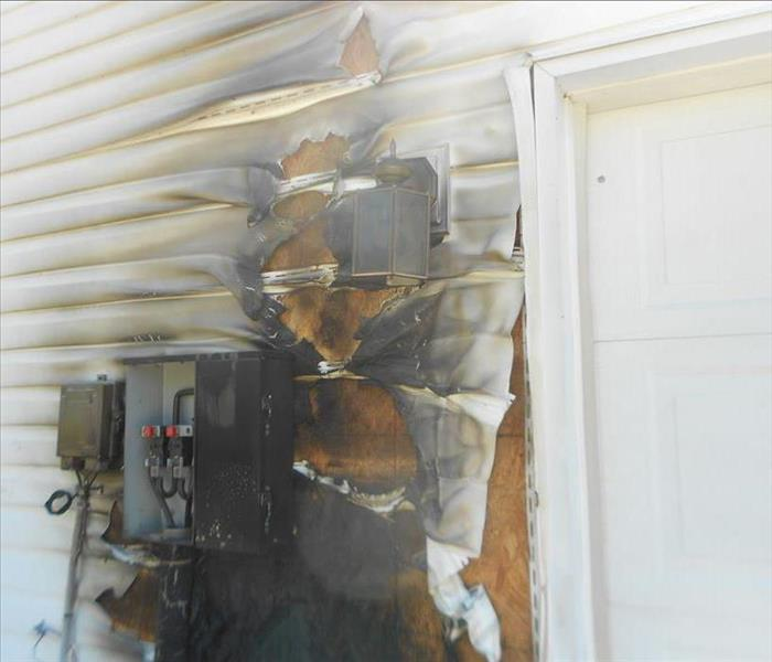 Fire Damage to Outside of Home