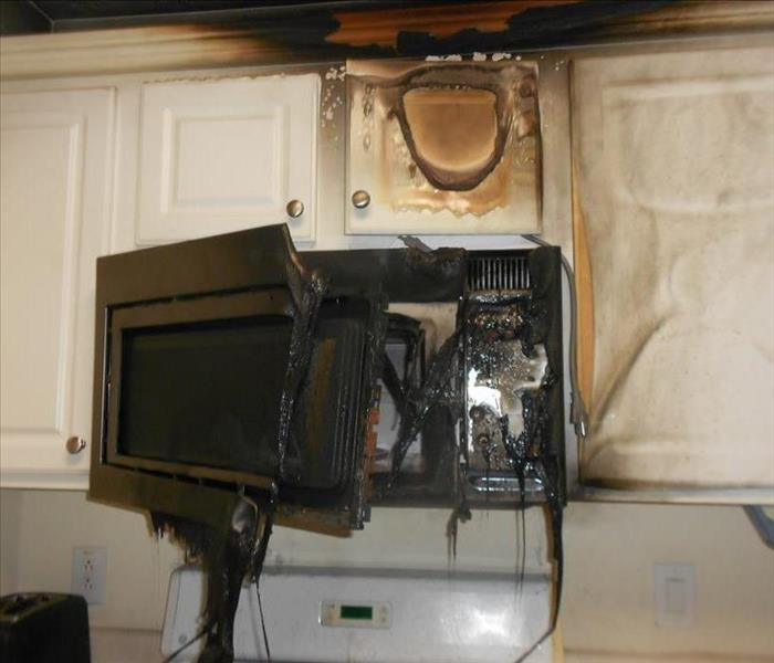 Burnt Microwave from Kitchen Fire