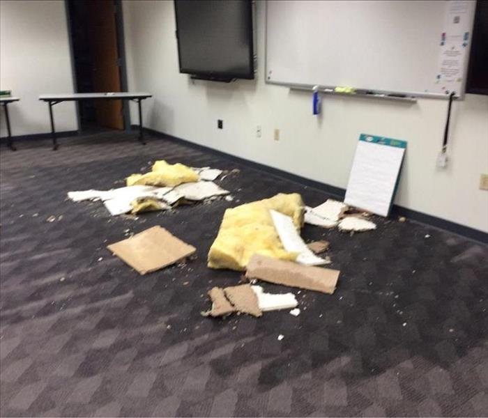 Commercial Water Damage to Conference Room